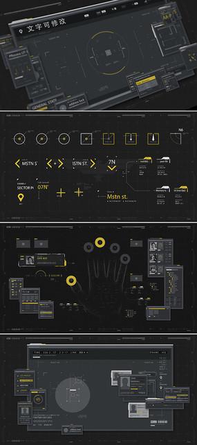 军事高科技hud界面元素模板