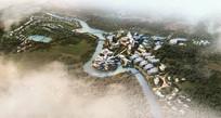 科技园区景观设计鸟瞰图