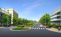 路口绿化带设计效果 JPG