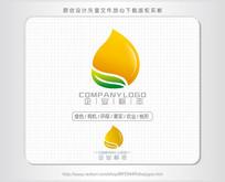 绿叶桃心油logo标志设计