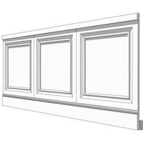 欧式白色壁板模型