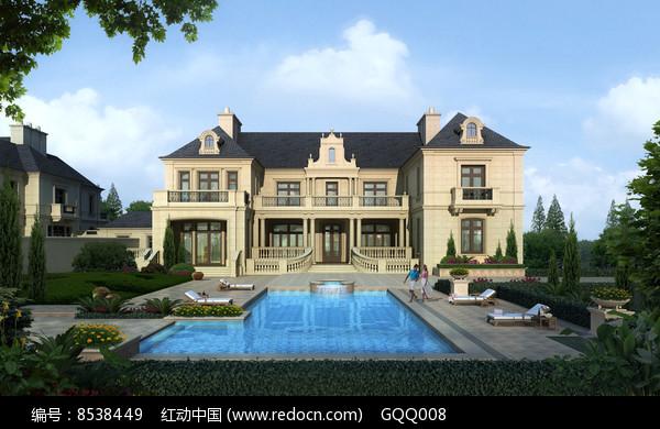 欧式别墅建筑设计效果图图片