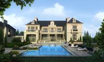 欧式别墅建筑设计效果图