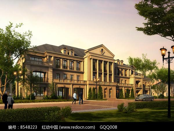 欧式别墅建筑效果图片