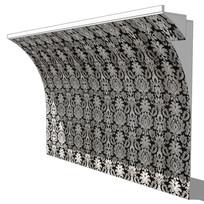 欧式花纹壁板模型