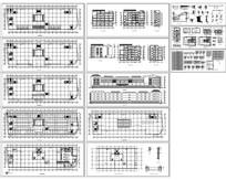 欧式七层商场设计施工图 dwg