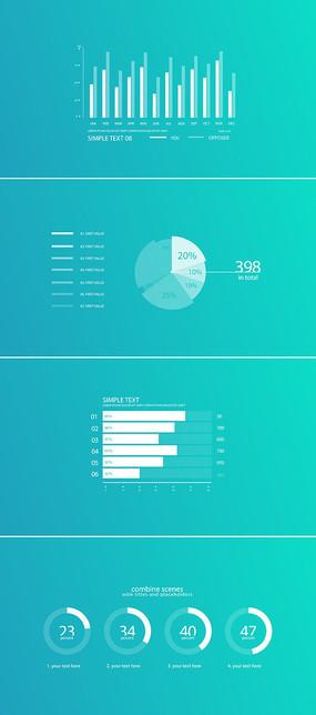 企业数据统计信息图表模板