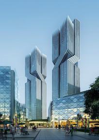 商业中心特色建筑设计效果图