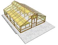 生产温室SU建筑模型