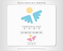 天使母婴宝宝logo标志设计 AI