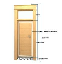 卫生间不锈钢包木门设计图