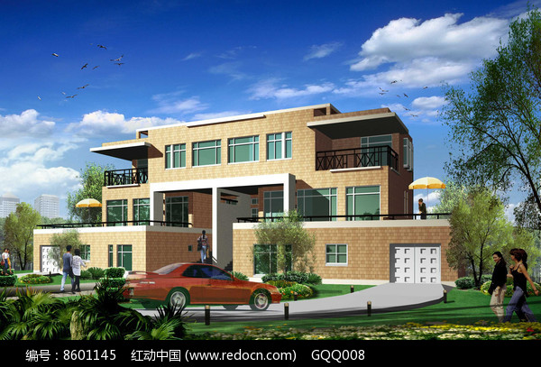 现代风格私家别墅设计效果图图片