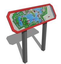 现代公园景区地图标识牌