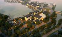 新中式住宅设计鸟瞰效果