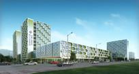 医院建筑设计效果图 JPG