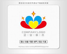 幼儿园星星logo标志设计