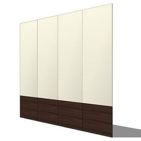 直线型壁板模型