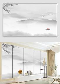 中国风水墨山水画装饰画