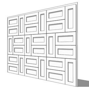 中式隔断壁板模型