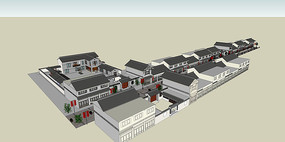 中式古典建筑商业街