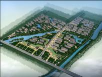 住宅区规划设计整体鸟瞰图