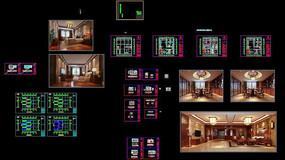 自建房别墅新中式cad施工图