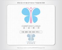 字母i蝴蝶标志logo设计