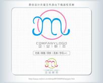 字母m标志logo设计