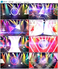 炫彩几何体舞台视频