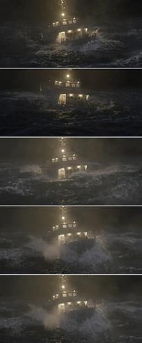 大海海浪商船医院医用船视频