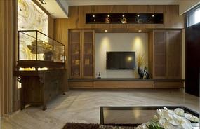 典雅中式电视背景墙装饰