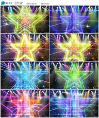 多彩五角星动感视频