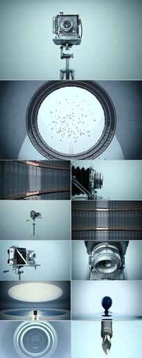 复古相机古董艺术文艺范钢笔视频