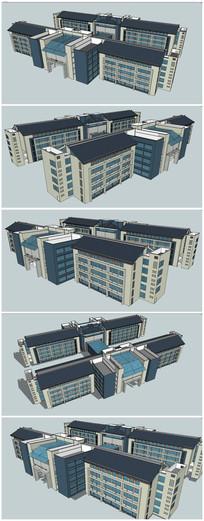高中科技楼建筑SU模型