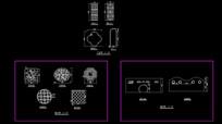 古典墙门CAD镂空隔断图案