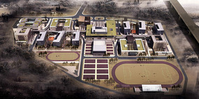 国际合作学校整体鸟瞰图