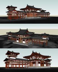 皇家园林建筑su模型