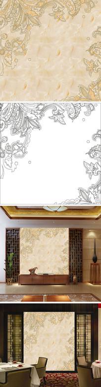 花纹花边大理石纹背景墙