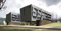 教学楼建筑效果图 JPG