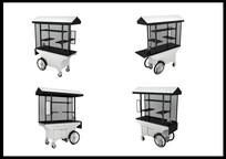 流动售货车3D模型