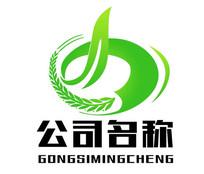 麦穗生态农业环保logo