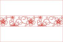 梅花雕花图案