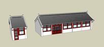 农村传统住宅SU模型