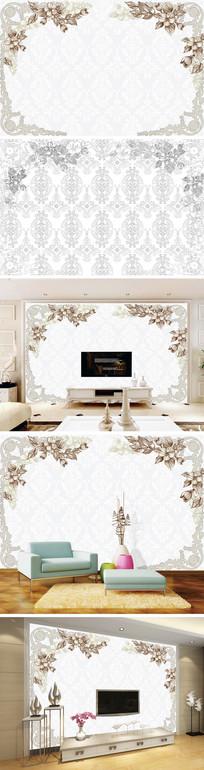 欧式花纹花边底纹背景墙