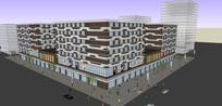 商城建筑模型
