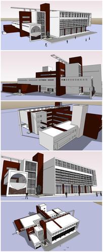 图书馆建筑SU模型