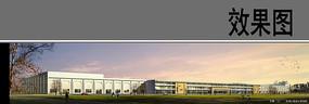 校园建筑及草坪设计 JPG