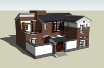新农村别墅住宅模型
