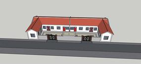 新农村传统住宅SU模型