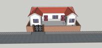 新农村传统住宅模型